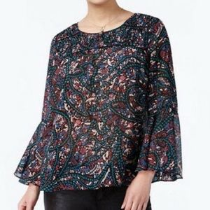 Jessica Simpson Floral Wilma Top (NWT)